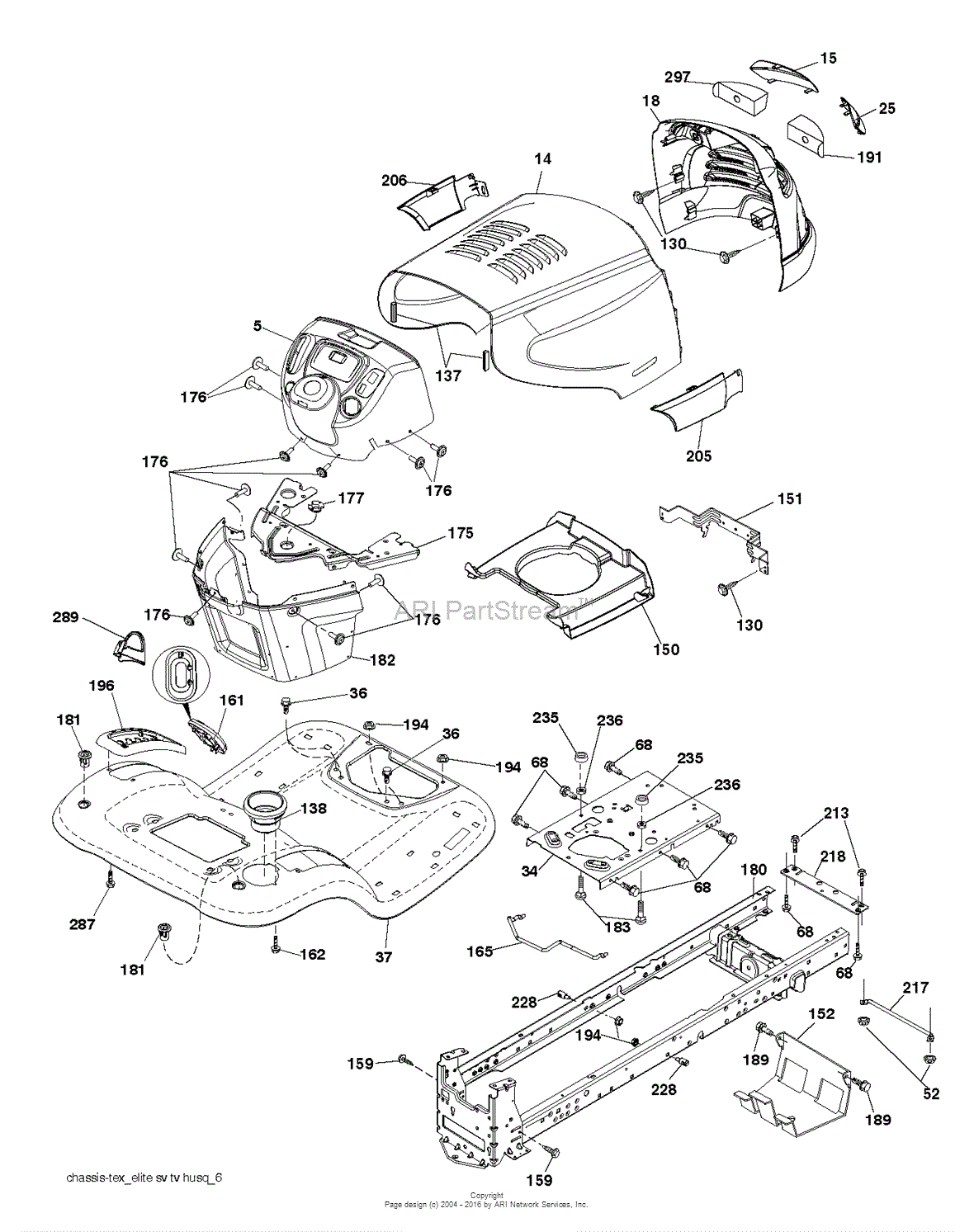 Poulan PB20H42YT - 96042012404 (2011-08) Parts Diagram for CHASSIS ...