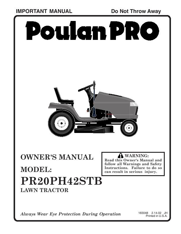Search poulan pro poulan pro lawn mower User Manuals   ManualsOnline ...