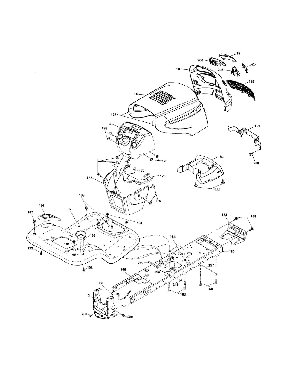 POULAN Tractor Mower deck Parts | Model PB22H42YT | SearsPartsDirect