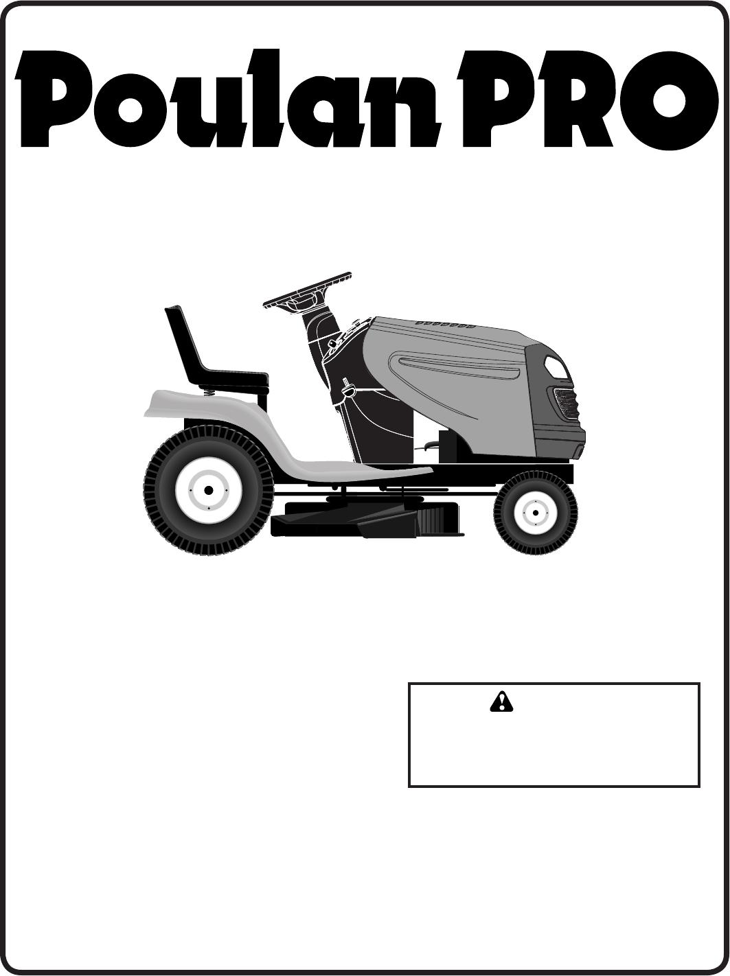 Poulan PB22H54YT Lawn Mower User Manual