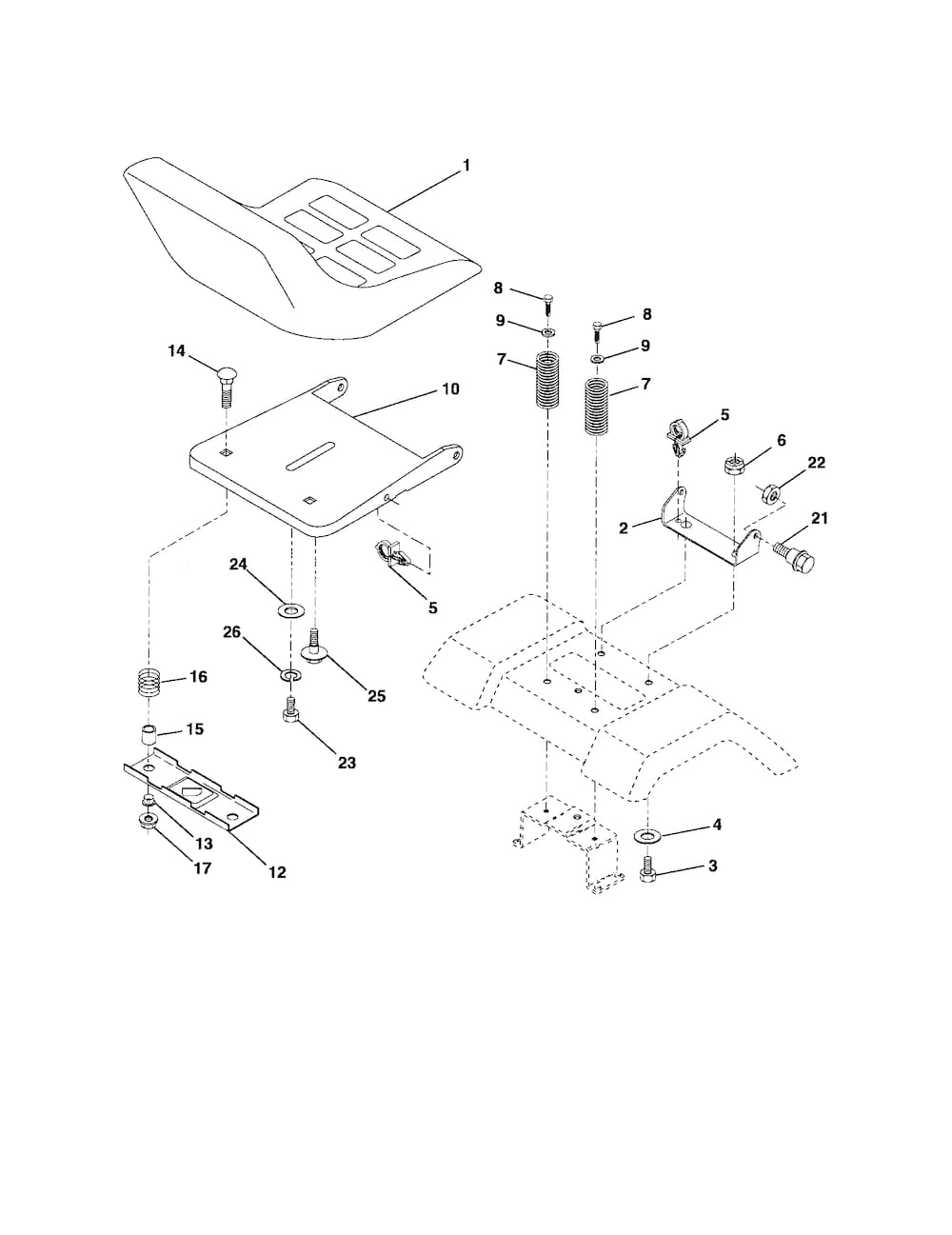 ... and Parts List for POULAN Riding-Mower-Tractor-Parts model # PD15538LT
