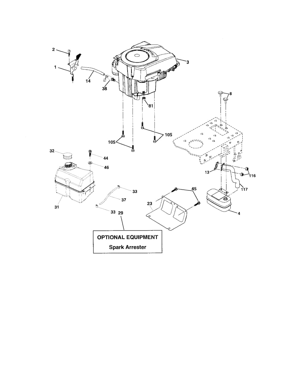 ... and Parts List for POULAN Riding-Mower-Tractor-Parts model # PK1942YT