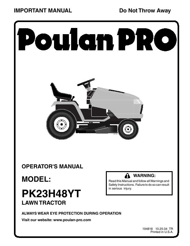poulan pk23h48yt poulan pk23h48yt lawn mower view all poulan lawn