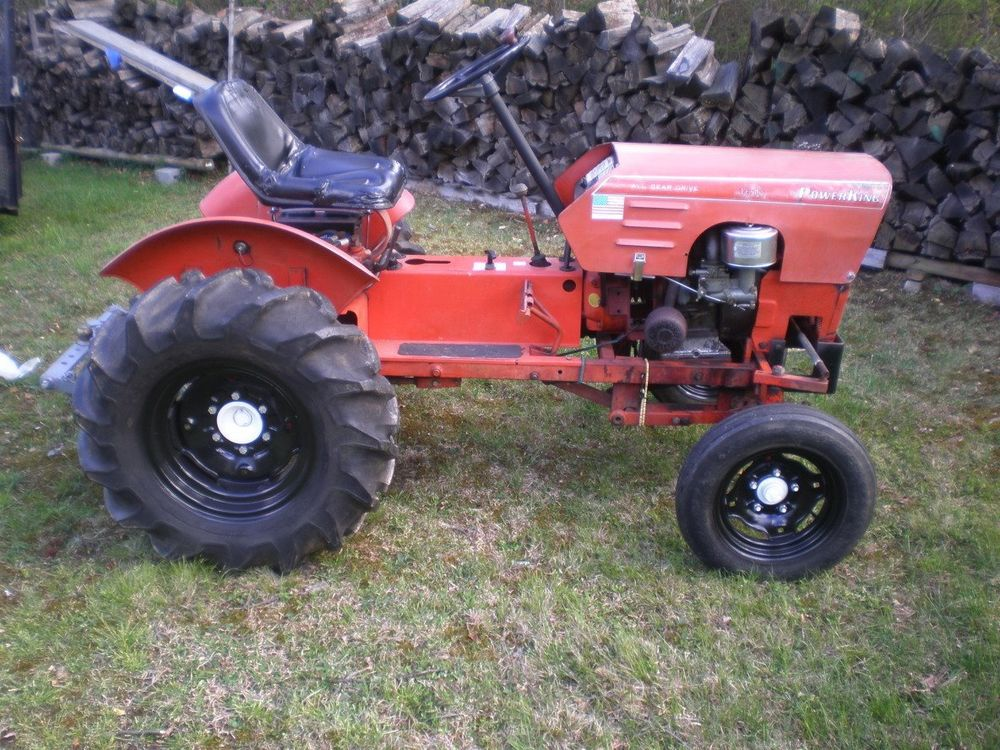 Power King Model 1616 Tractor with Mower Deck   eBay