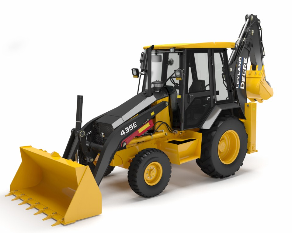 Leyland Deere 435E backhoe loader launched | Gaadi.com
