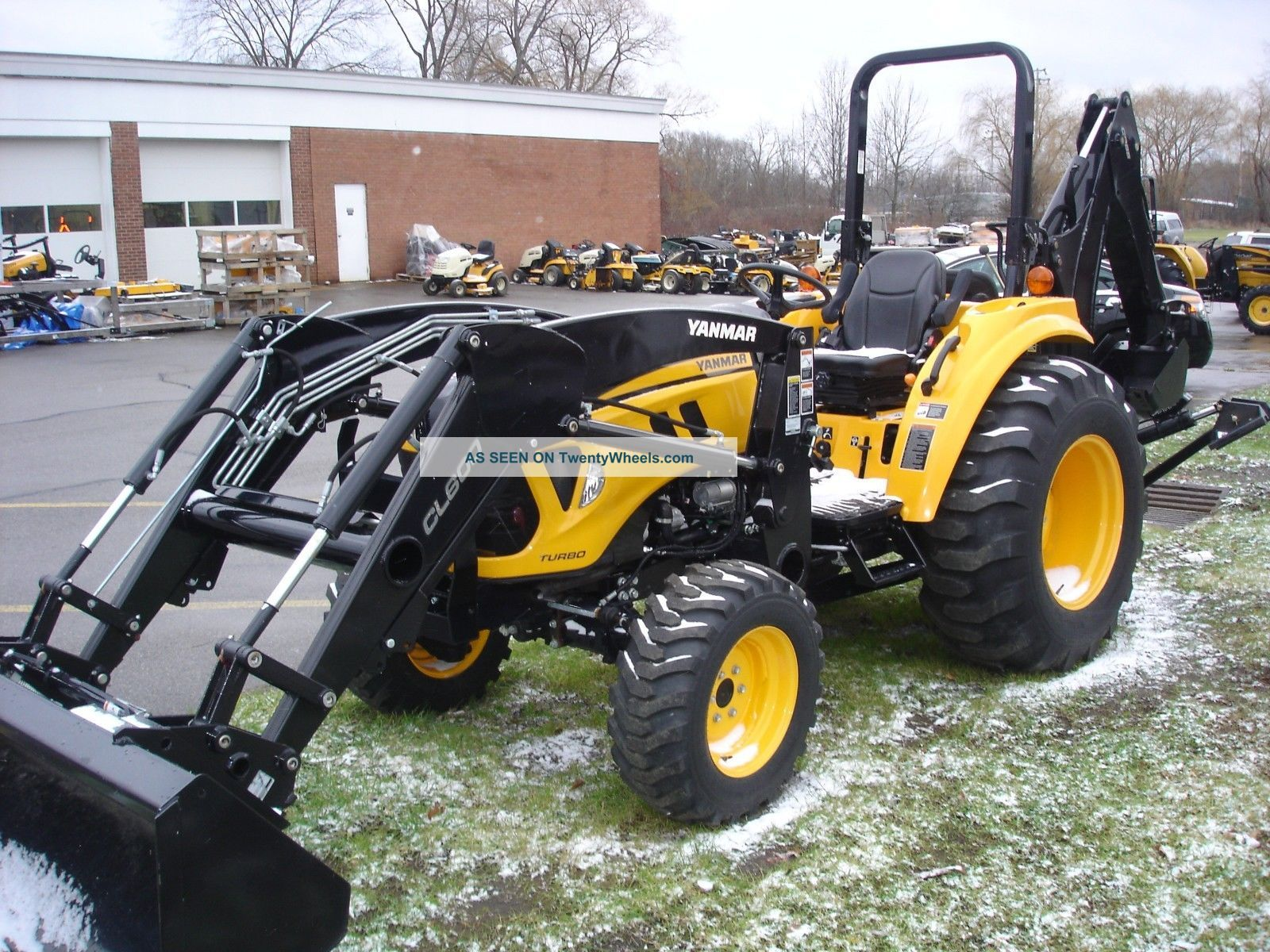 ... Yanmar Lx4900 Turbo Diesel Compact Tractor With Loader And Backhoe 4x4