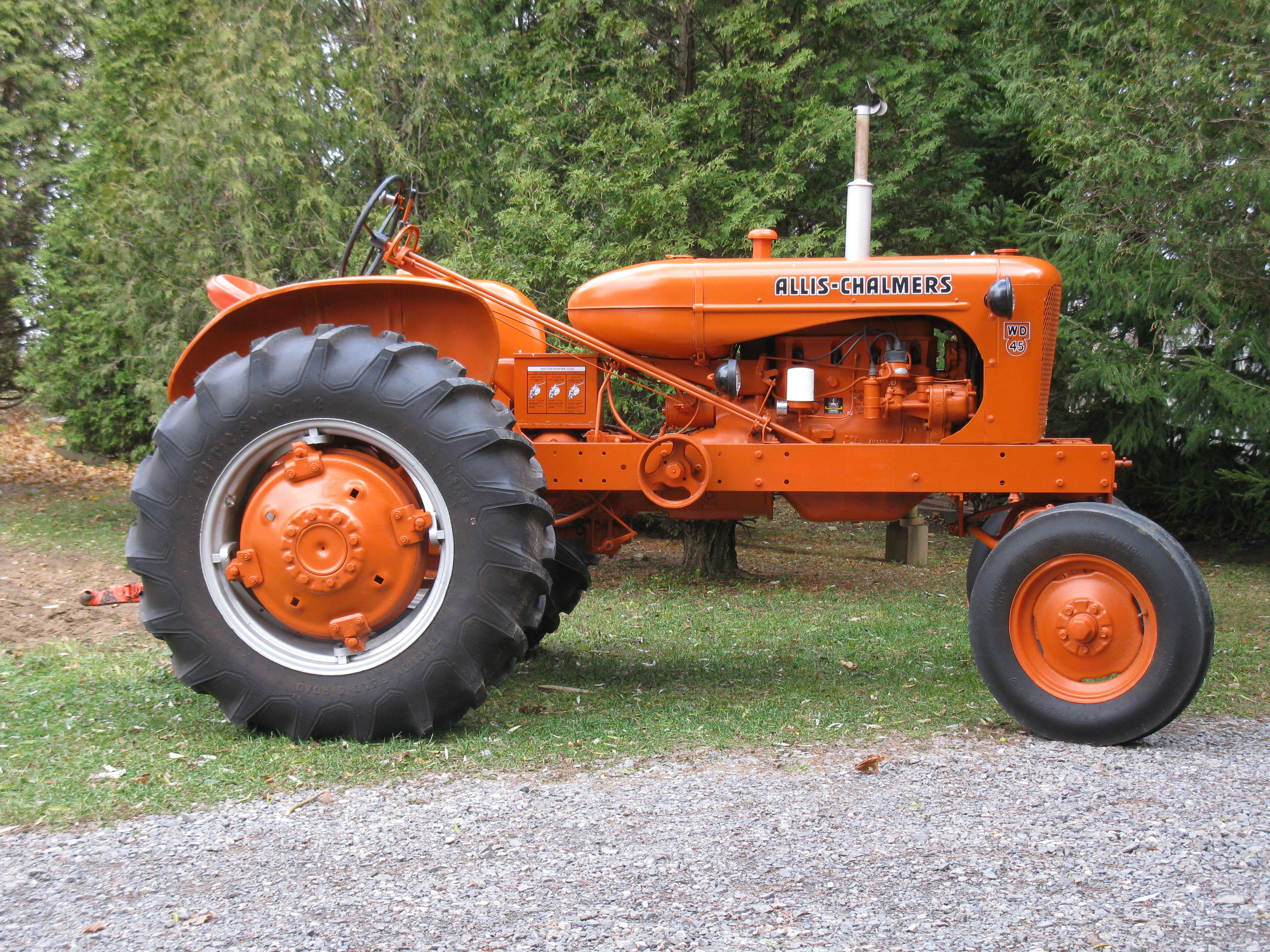 1954 Allis Chalmers WD45 - Antique Tractor Blog