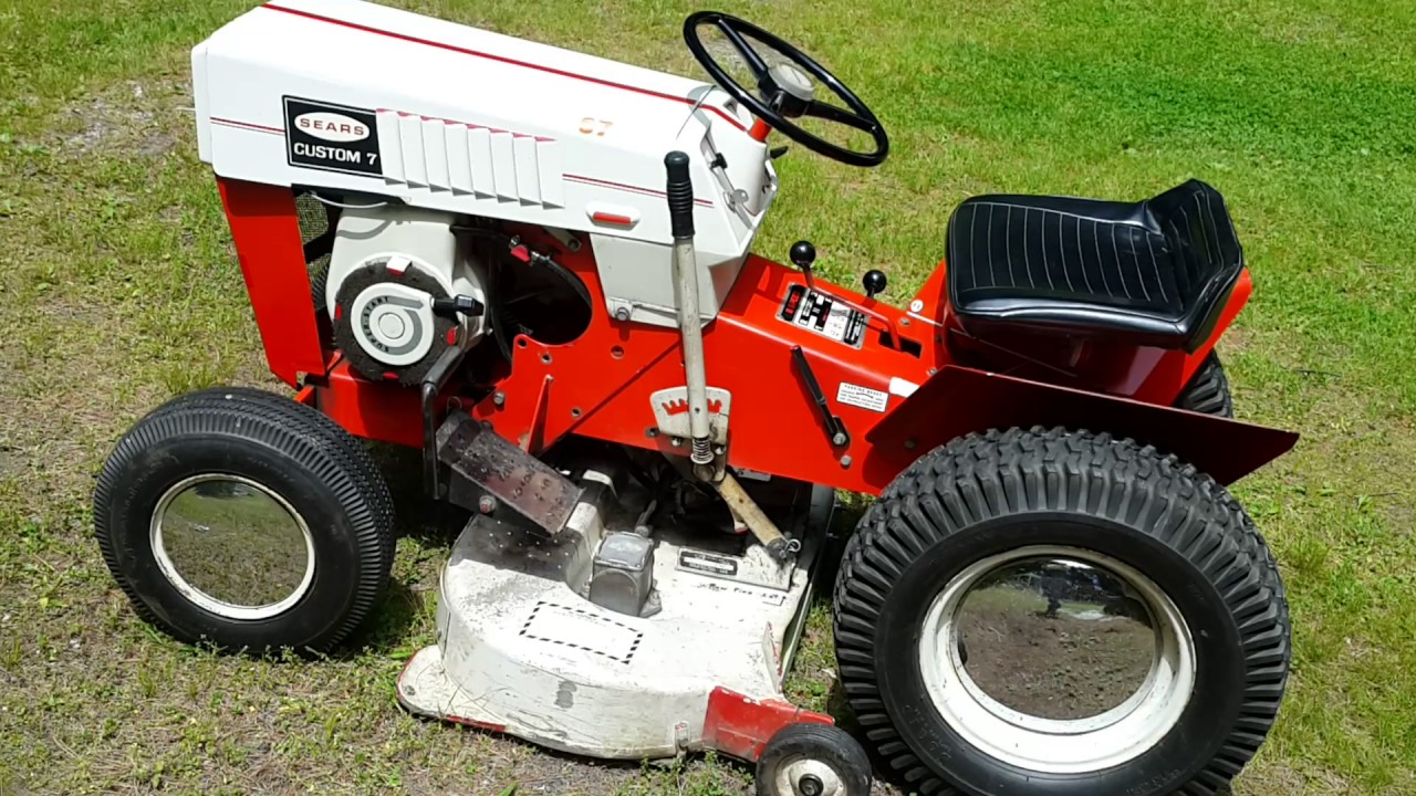 Sears Custom-7 Tractor one owner. Part I - YouTube