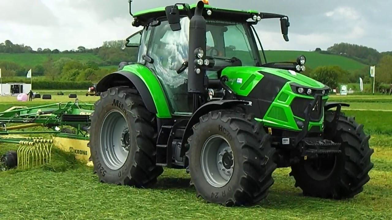 2018 Deutz-Fahr 6140 Tractor With Krone Twin Rotor Rake ...