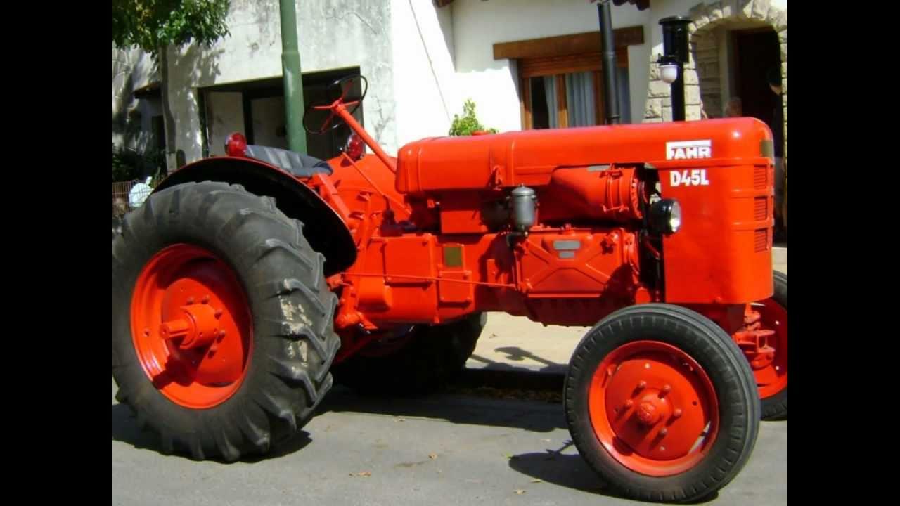 Tractor Fahr D 45 L Restauración - YouTube