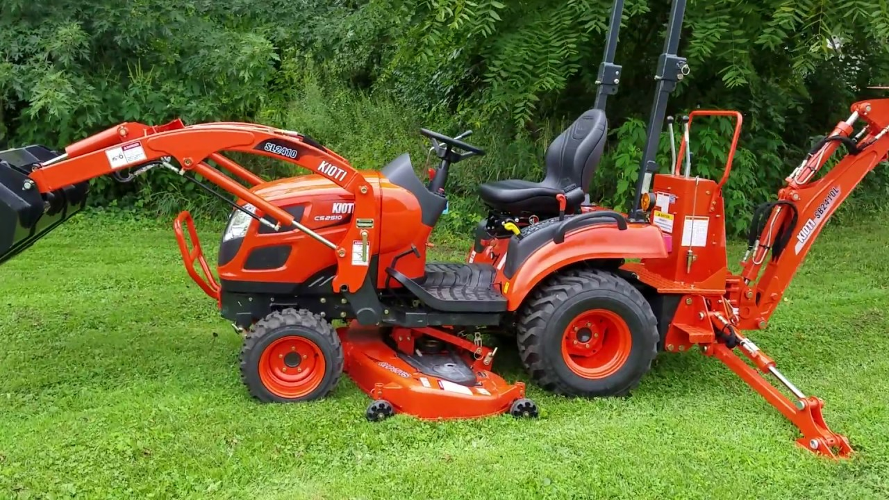 Kioti CS2510 Tractor and Implements - YouTube