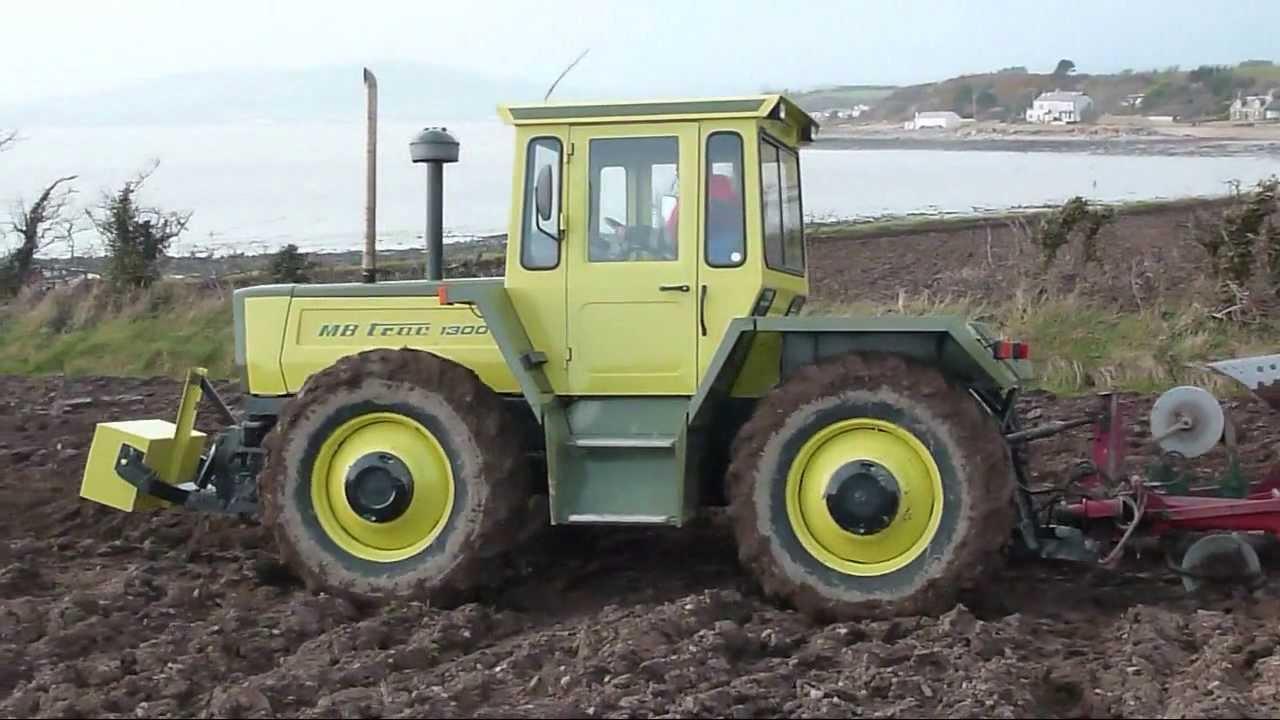 MB TRAC 1300 tractor straight thru exhaust mercedes benz ...