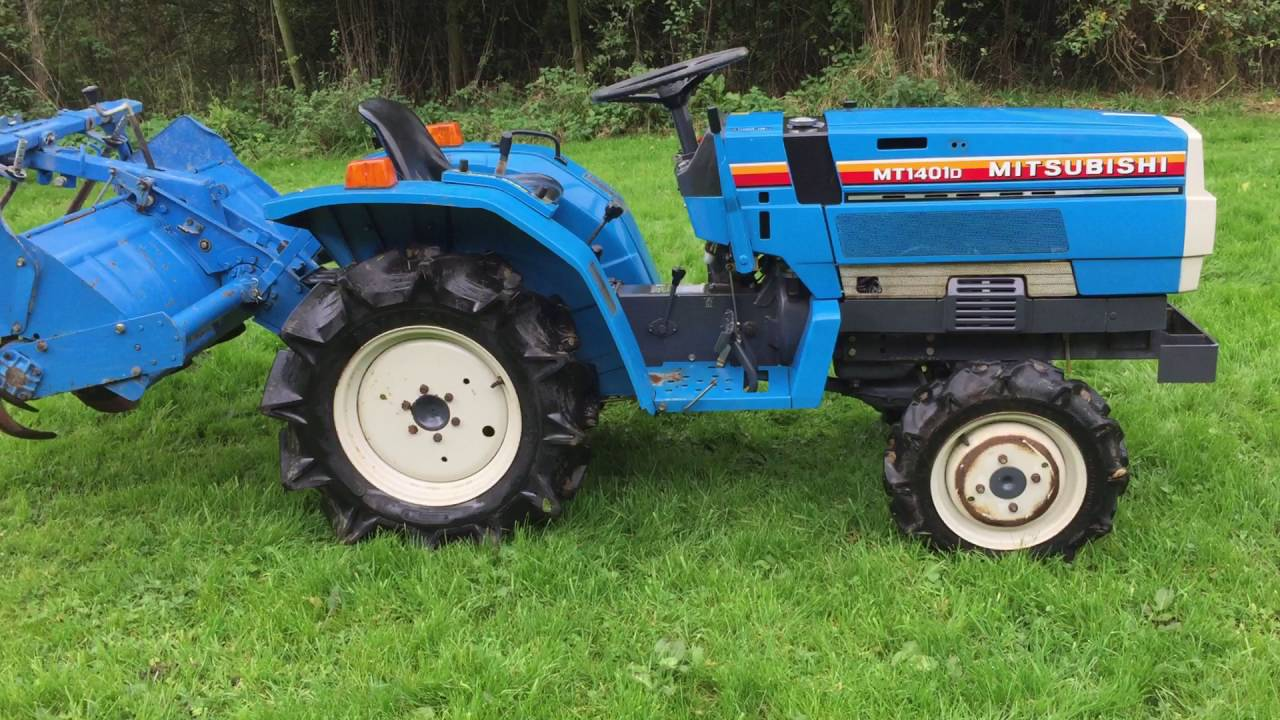 Mitsubishi MT1401D 4WD compact tractor ONLY 400 HRS - YouTube