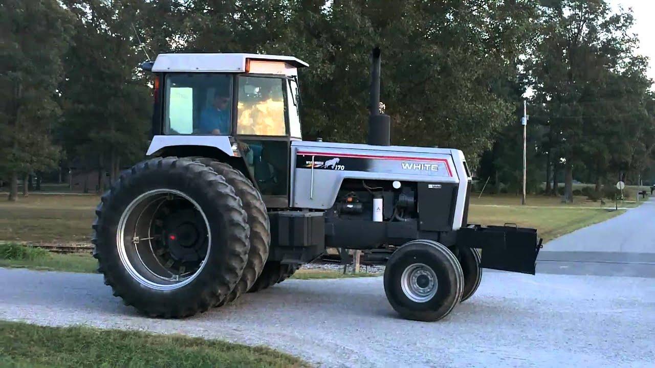 white tractor