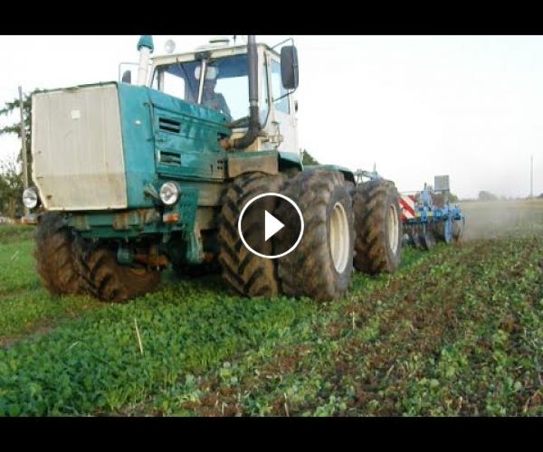 Tractor Gallery » XTZ T-150K tractor with JAMZ 238 engine + Lemken ...
