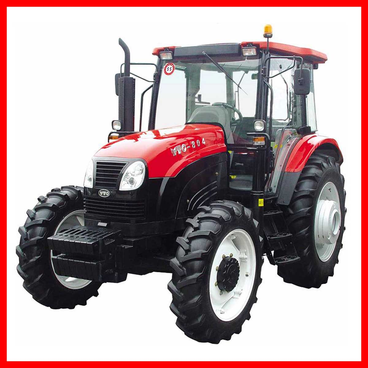 80HP, 4WD Yto Farm Tractor, Agricultural Tractor, Wheeled Tractor (YTO ...