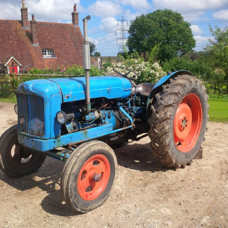 fordson major tractor fordson major live drive new tyres all round new ...