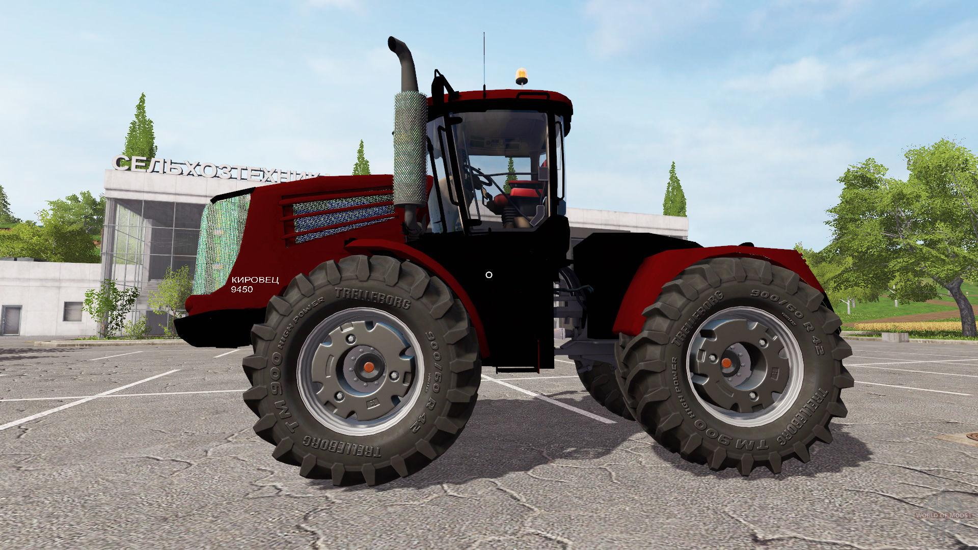 Farm tractor Kirovets 9450 for Farming Simulator 17.