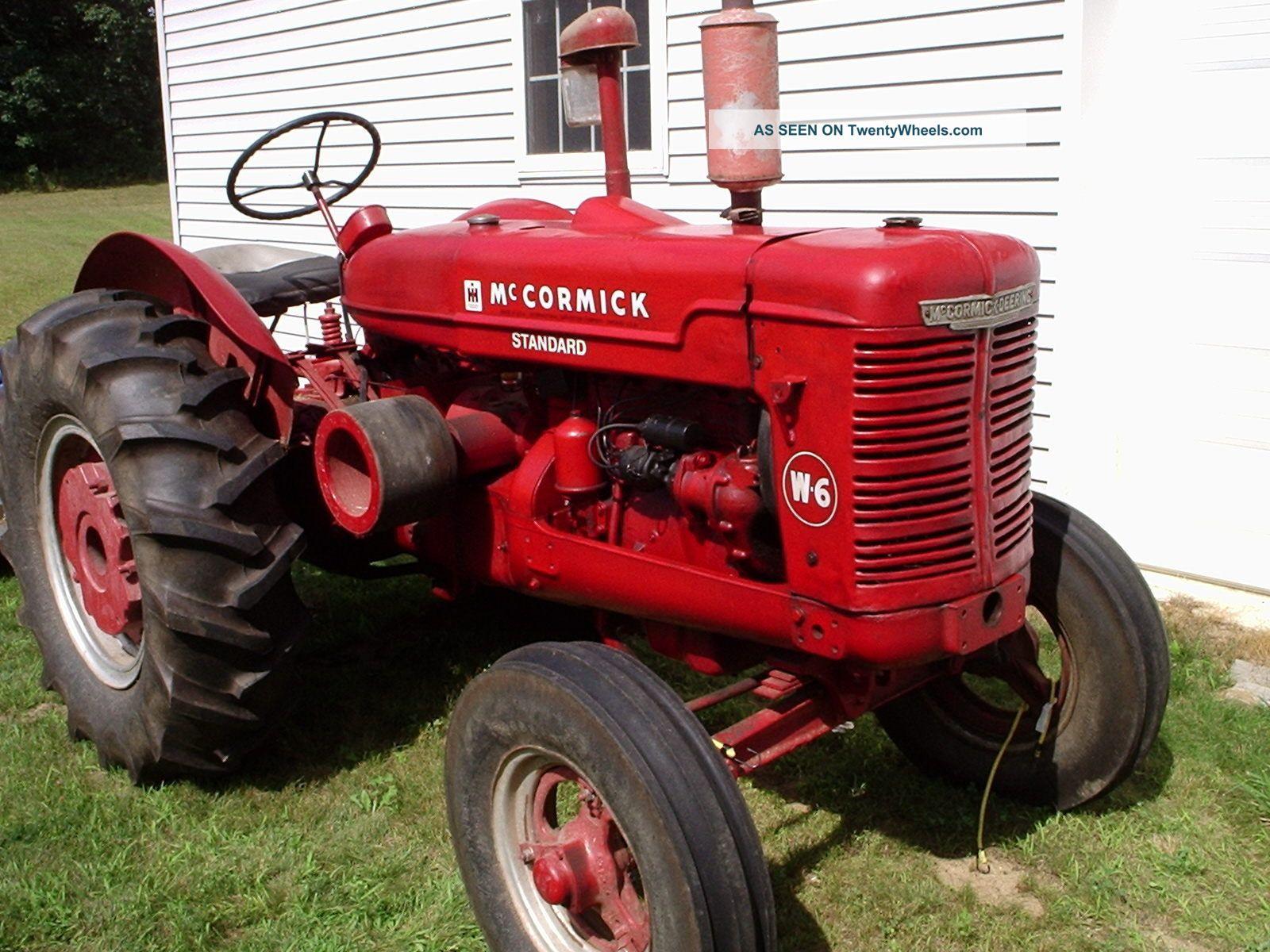 1950 Mccormick W - 4 Tractor Antique & Vintage Farm Equip photo 1