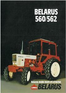 BELARUS TRACTOR 560 & 562 BROCHURE - PV6 | eBay