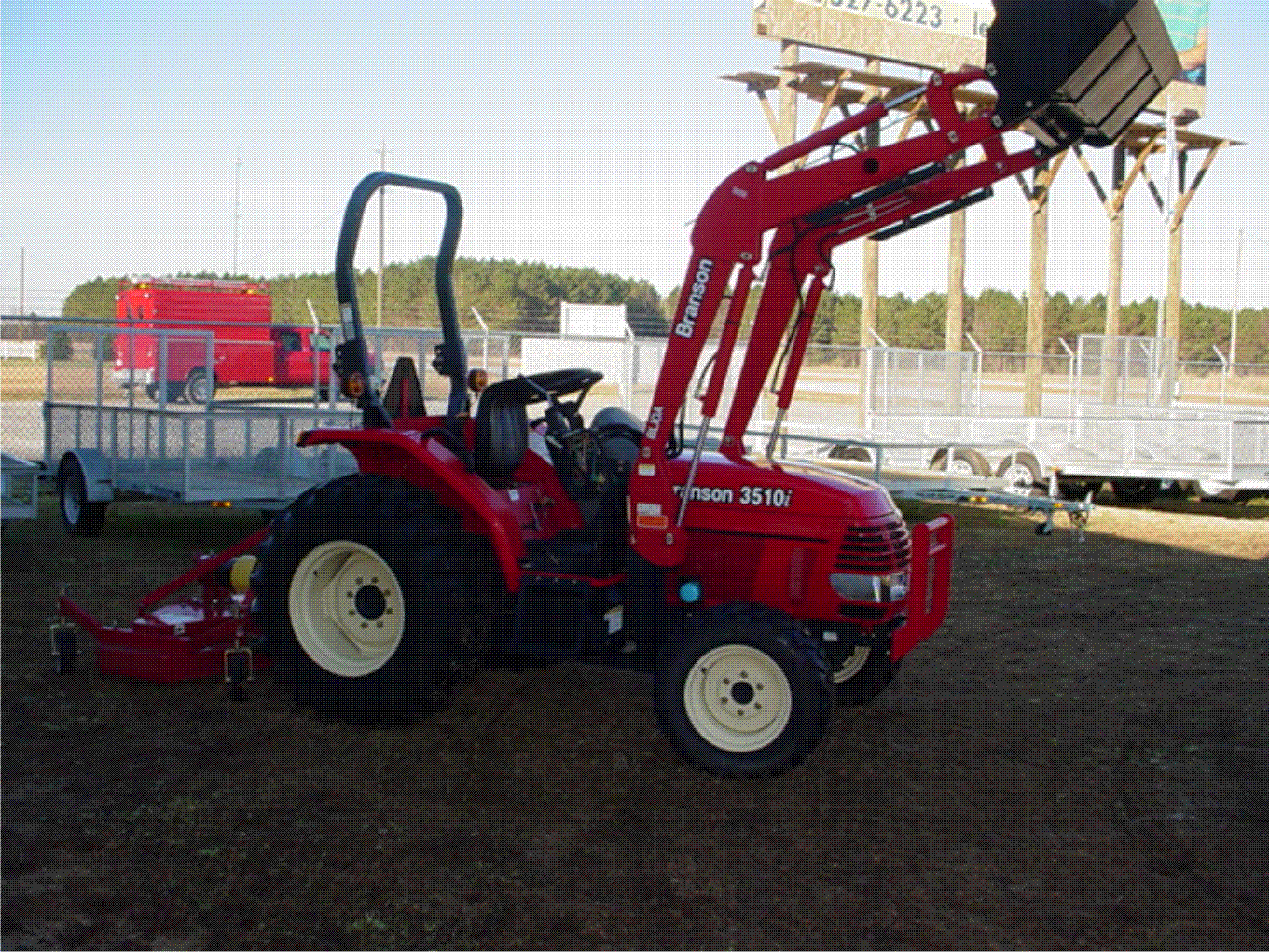 3510i with loader shown with industrial tires 3510i with loader