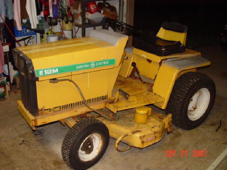 general electric lawn tractors