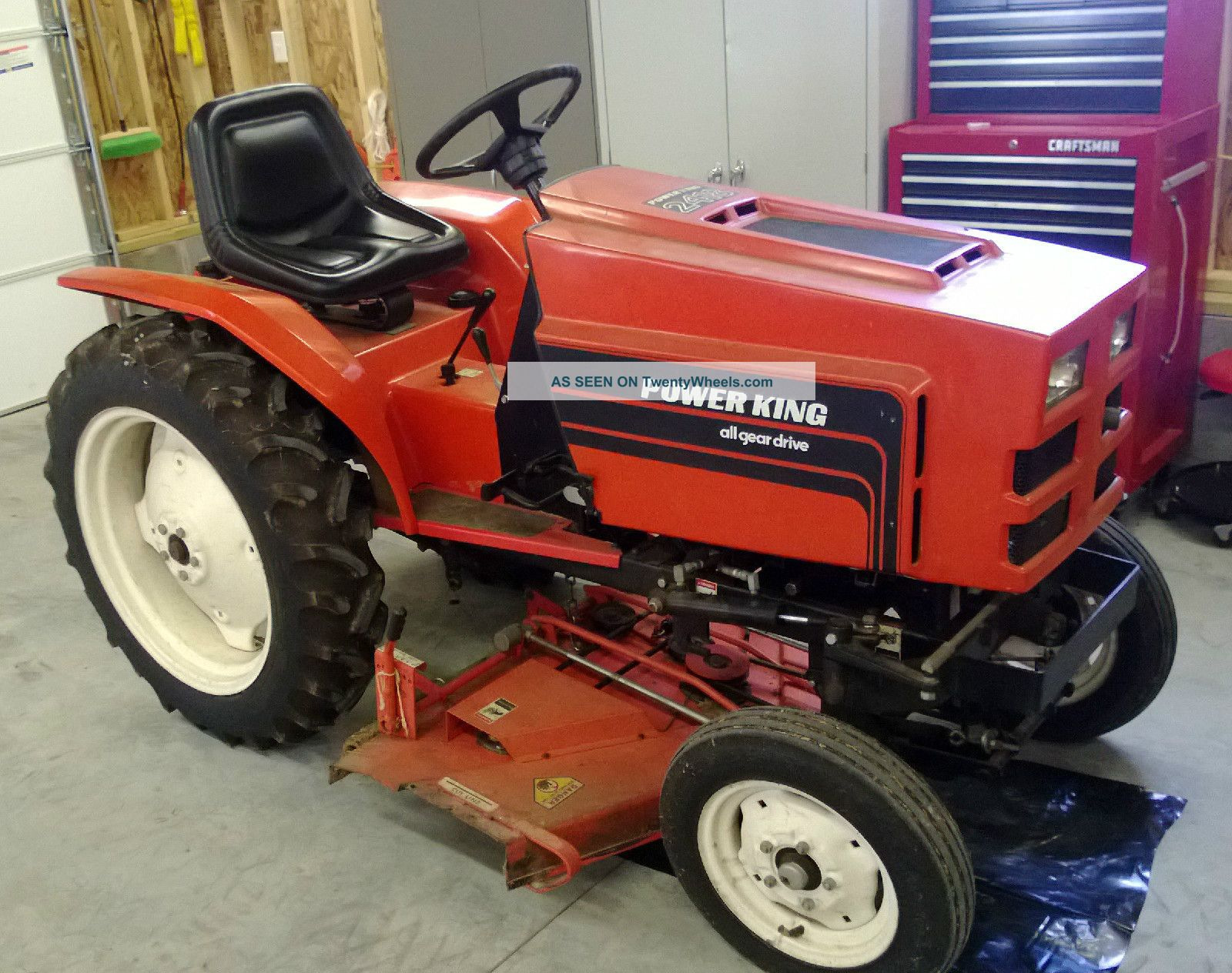 2418 Power King Lawn Tractor With Kohler Engine Absolute Antique ...