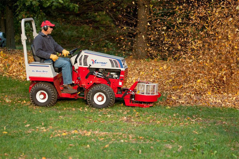 Ventrac New Zealand NZ lawn mower with leaf blower
