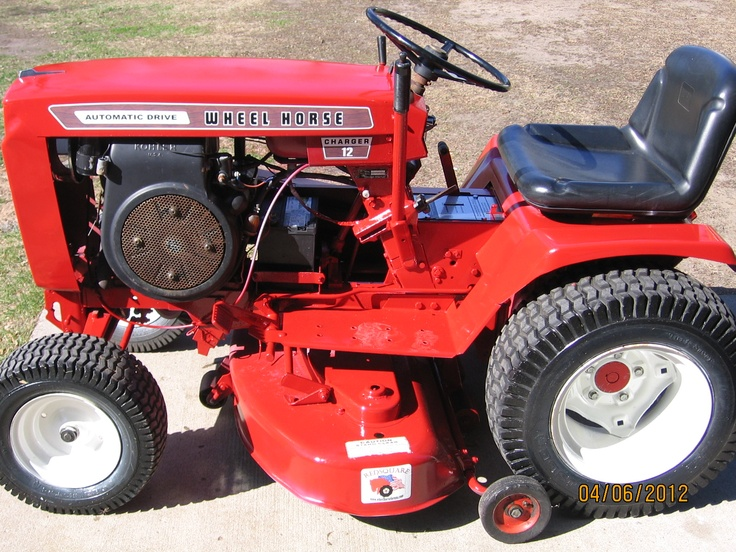 Restored 1974 Wheel Horse Tractor | lawn tractors & mowers | Pinterest