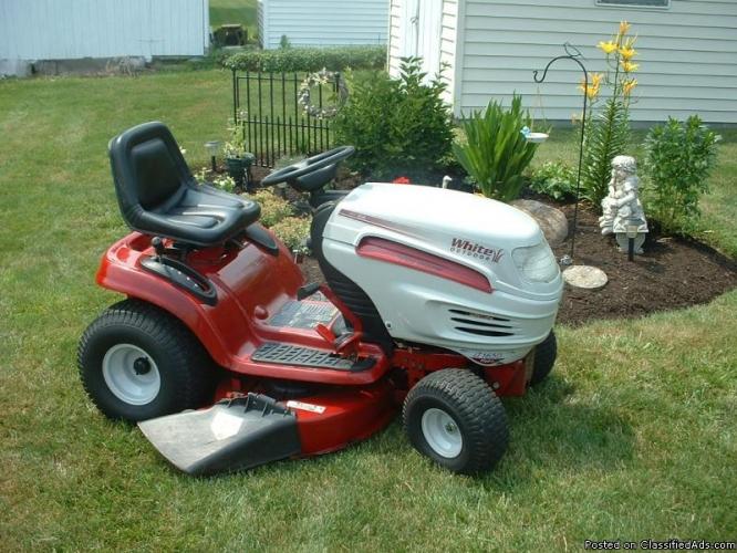white lawn tractors