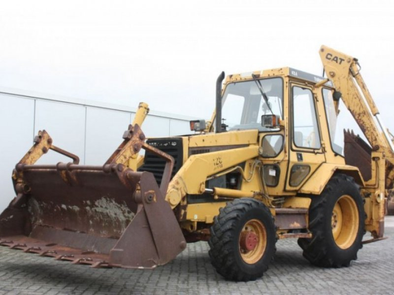 Caterpillar 428-II Backhoe loader - technikboerse.com