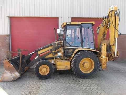 Caterpillar 438C backhoe loader operating - YouTube